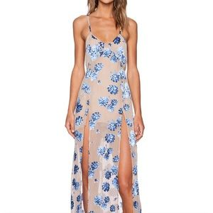 Marina Maxi Dress in Blue Sand